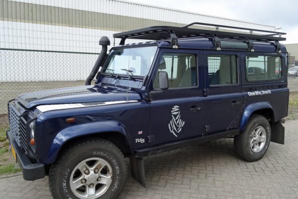 Tembo4x4 Dachgepäckträger schwarz beschichtet Land Rover Defender 110 Station und Hard Top
