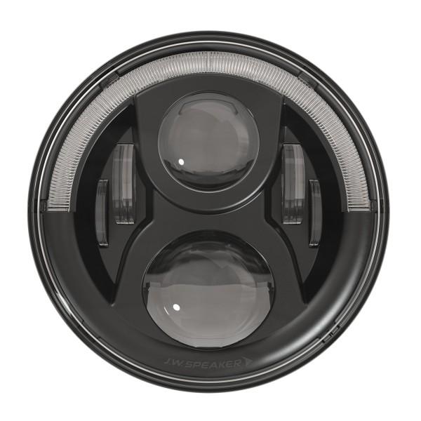 """J.W. Speaker 7"""" LED Hauptscheinwerfer 8700 Evolution 2 Dual Burn mit Positions- und Tagfahrlicht Schwarz"""