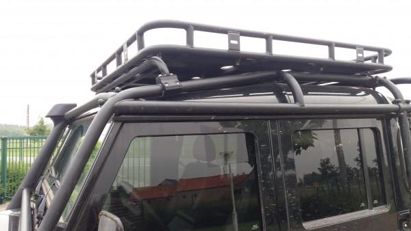 Safety Devices Dachgepäckträger für Überrollkäfig Full External Land Rover Defender 130 Crew Cab