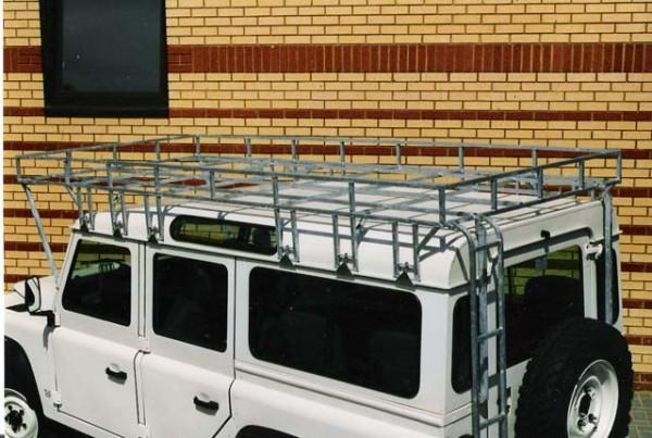 Brownchurch Dachgepäckträger verlängert Land Rover Defender 110 Hard Top + Station