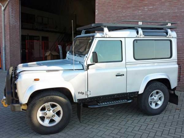 Tembo4x4 Dachgepäckträger schwarz beschichtet Land Rover Defender 90 Station und Hard Top