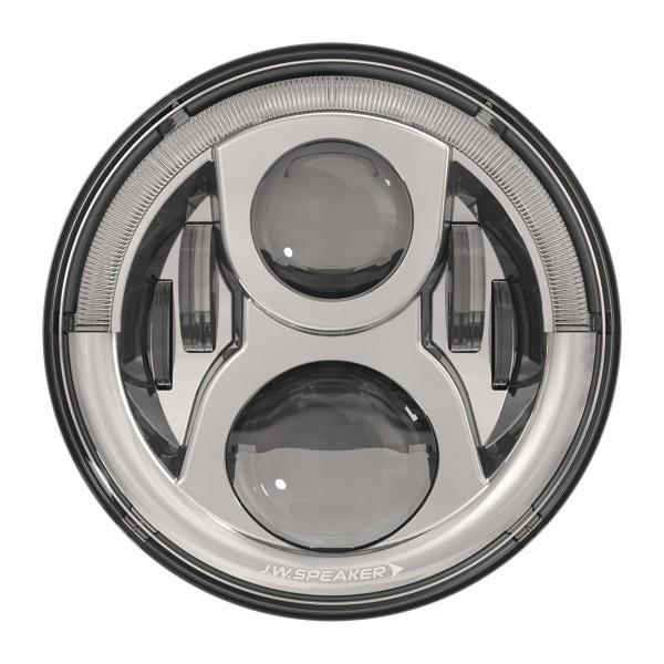 """J.W. Speaker 7"""" LED Hauptscheinwerfer 8700 Evolution 2 Dual Burn mit Positions- und Tagfahrlicht Chrom"""