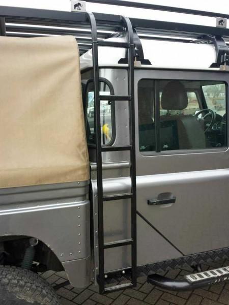 Tembo4x4 Leiter seitlich schwarz beschichtet Land Rover Defender 110 + 130 Crew Cab