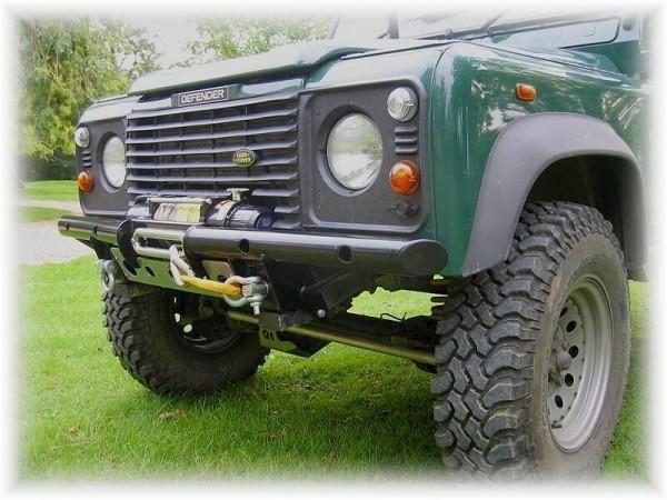 Shadow Tubular Seilwinden-Stoßstange für Land Rover Defender ohne Klimaanlage