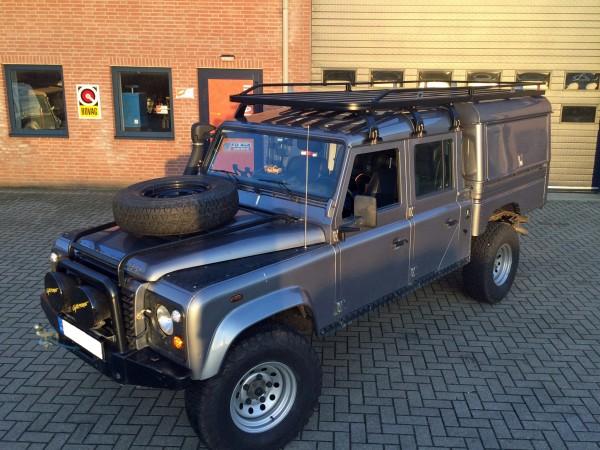 Tembo4x4 Hard Top mit seitlichen Klappen Land Rover Defender 130 Crew Cab