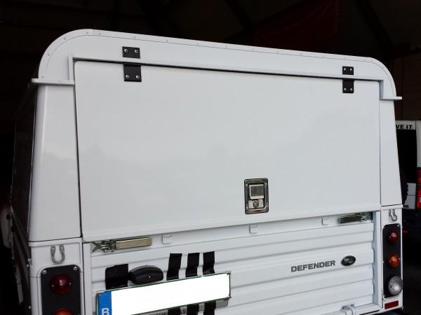 Tembo4x4 Hard Top mit oben angeschlagener Heckklappe Land Rover Defender 130 Crew Cab