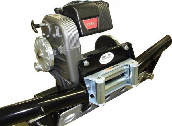 Shadow Tubular Seilwinden-Stoßstange für Warn 8274, Land Rover Defender mit Klimaanlage
