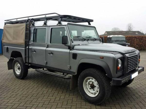 Tembo4x4 Dachgepäckträger schwarz beschichtet Land Rover Defender 130 Crew Cab Fahrzeuglänge